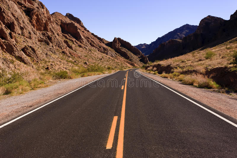 Wüsten-Datenbahn lizenzfreie stockbilder