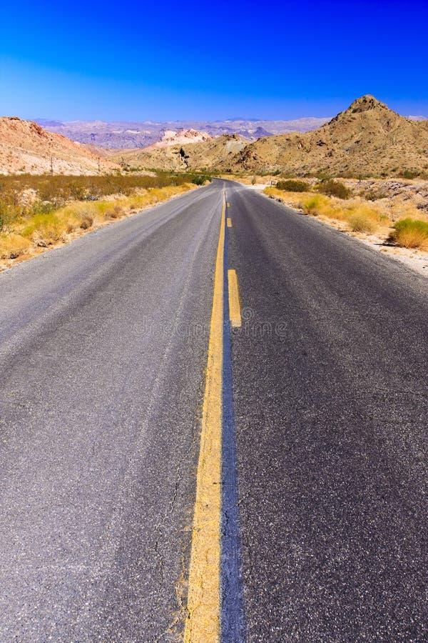 Wüsten-Datenbahn stockfotografie