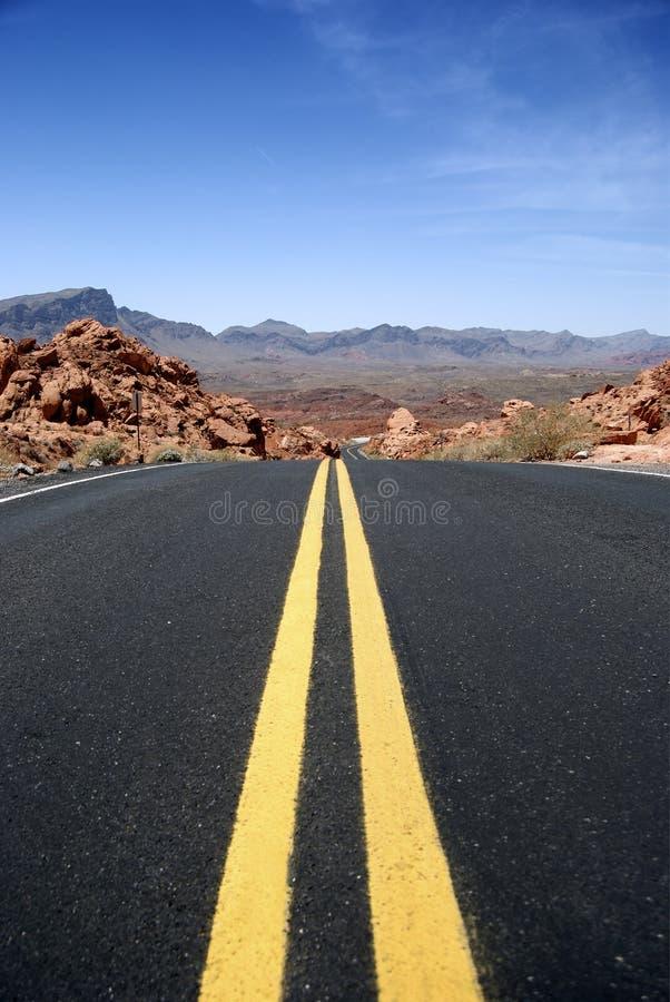 Wüsten-Datenbahn stockfoto