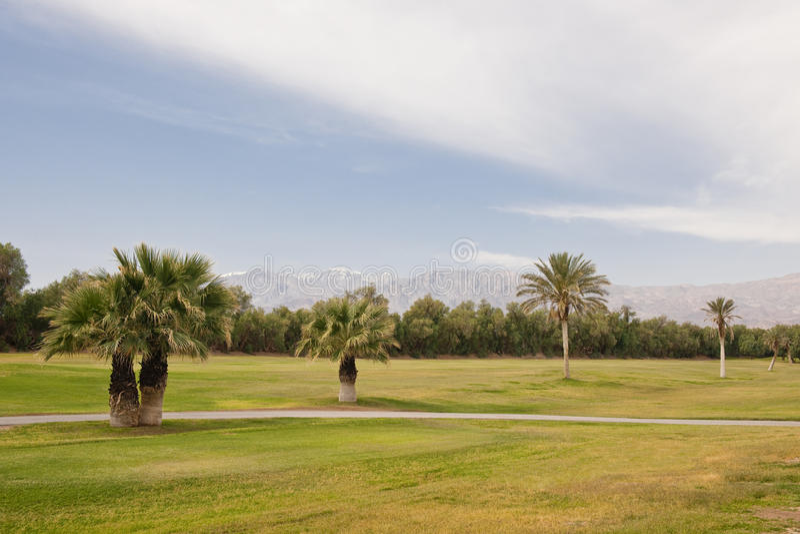 Wüsten-Golfplatz stockfotografie