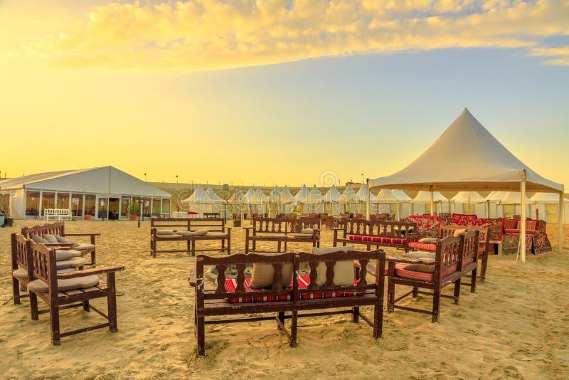 Wüsten-Lager Katar lizenzfreie stockfotografie