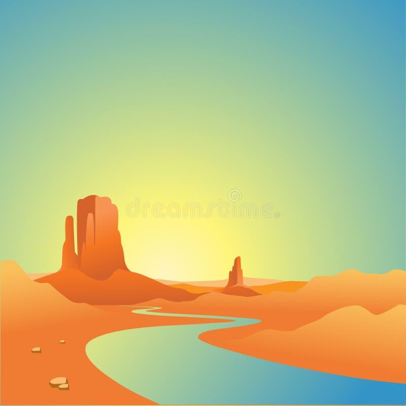 Wüsten-Landschaft stock abbildung
