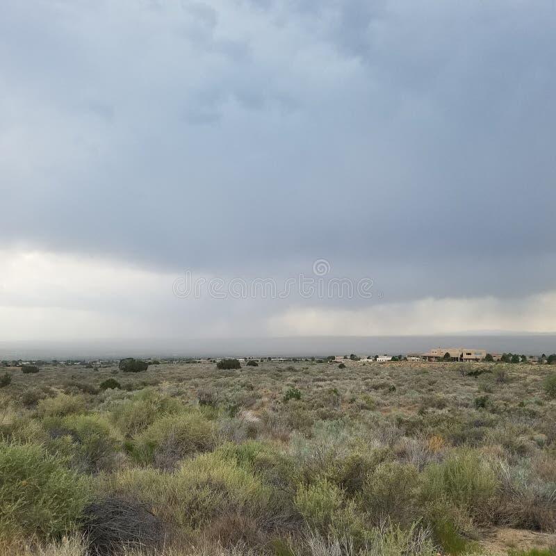 Wüsten-Regensturm stockbilder