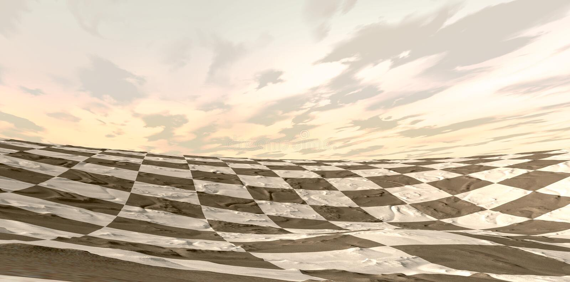 Wüsten-Schach-Brett-Landschaft lizenzfreie abbildung