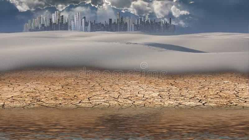 Wüsten-Stadt vektor abbildung