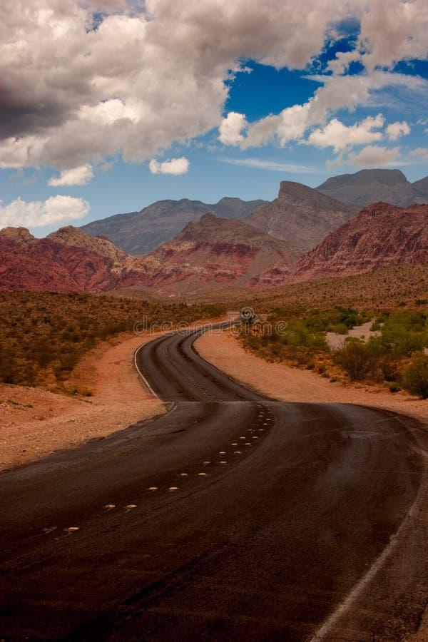 Wüsten-Straße lizenzfreies stockfoto
