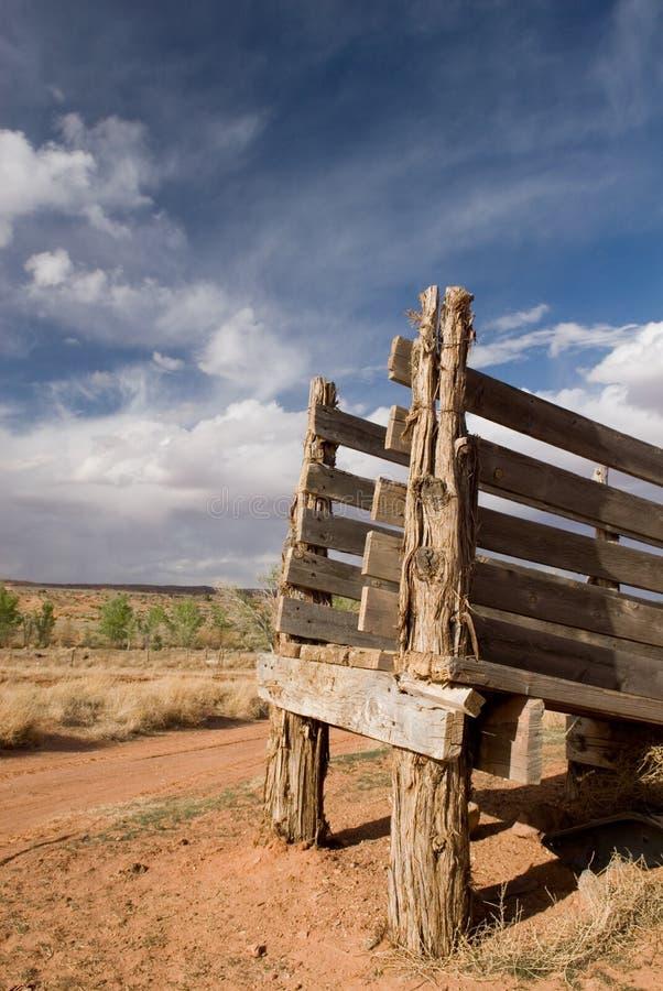 Wüsten-Vieh-Rutsche lizenzfreie stockfotografie