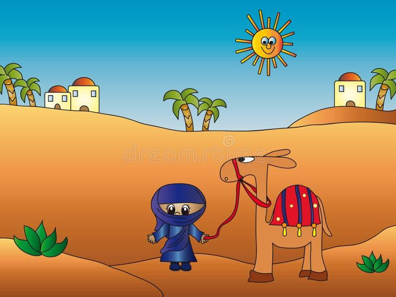 Wüstenabbildung vektor abbildung