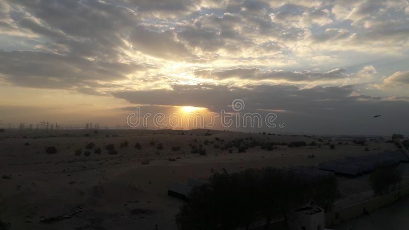 Wüstendünen in Dubai lizenzfreie stockfotografie