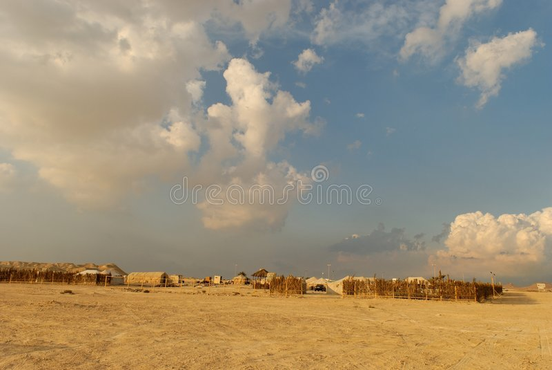 Wüstenlager stockfotos