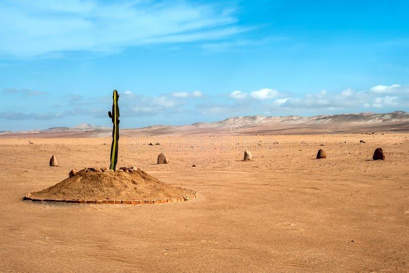 Wüstenregion von Tacna, Peru lizenzfreies stockbild