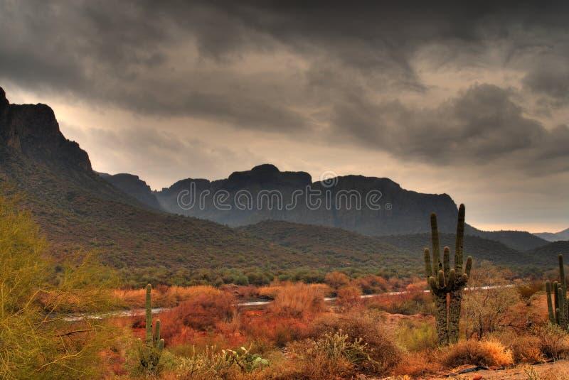 Wüstensturm, der 5 sich nähert lizenzfreies stockfoto