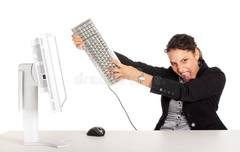 Wütende Geschäftsfrau lizenzfreies stockbild