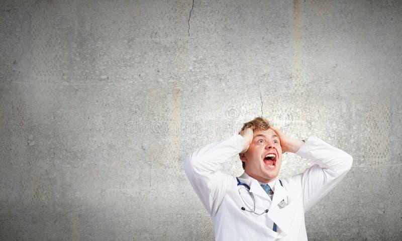 Wütender Doktor lizenzfreie stockfotos