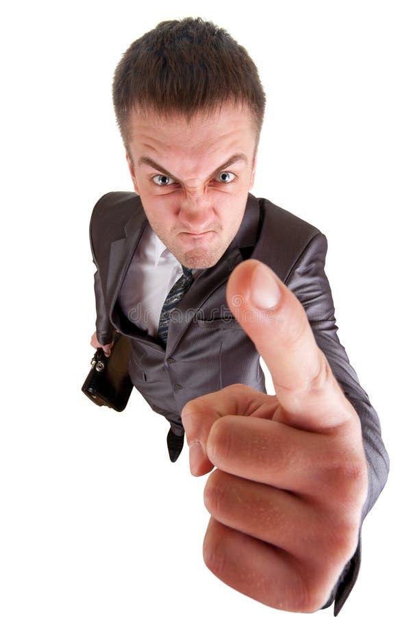 Wütender Geschäftsmann stockfotografie
