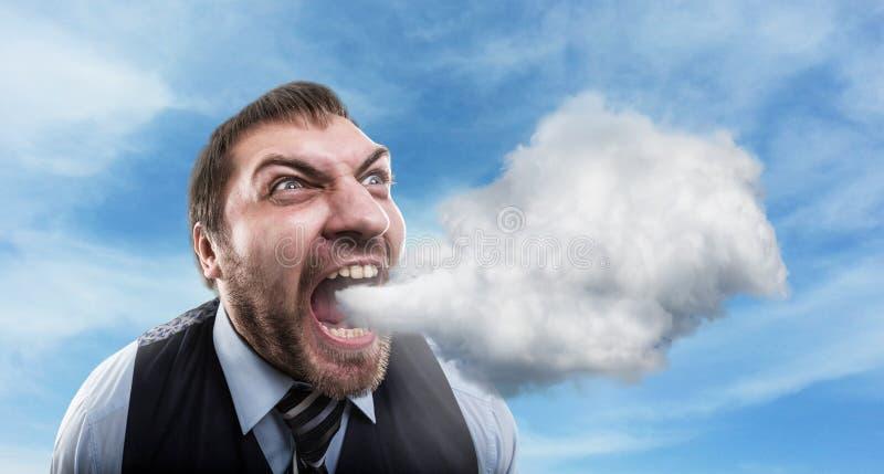 Wütender Geschäftsmann lizenzfreie stockfotografie