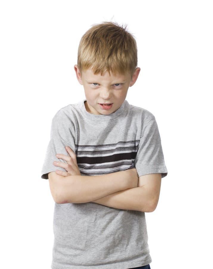 Wütender Junge lizenzfreie stockfotos
