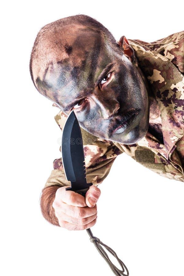 Wütender Soldat lizenzfreies stockfoto