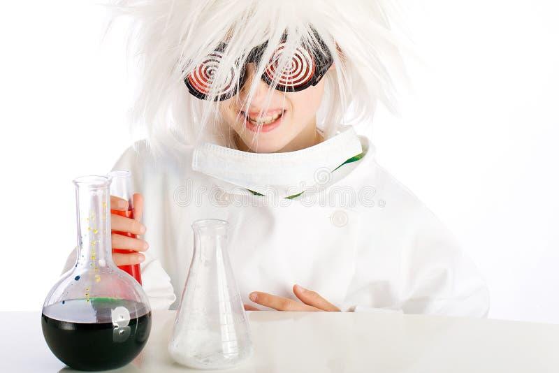 Wütender Wissenschaftler stockbilder