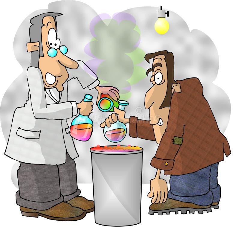 Download Wütender Wissenschaftler stock abbildung. Illustration von männer - 30416