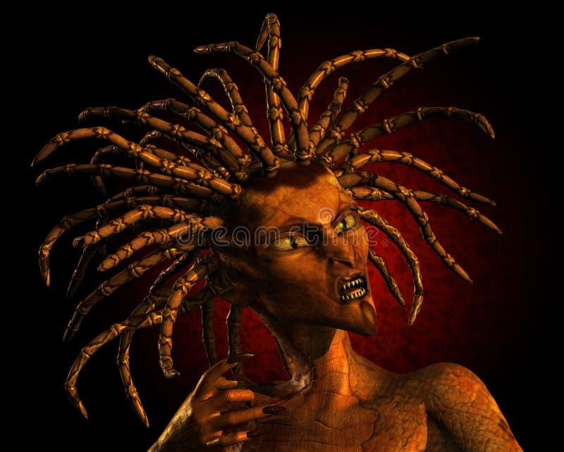wąż kobieta ilustracja wektor