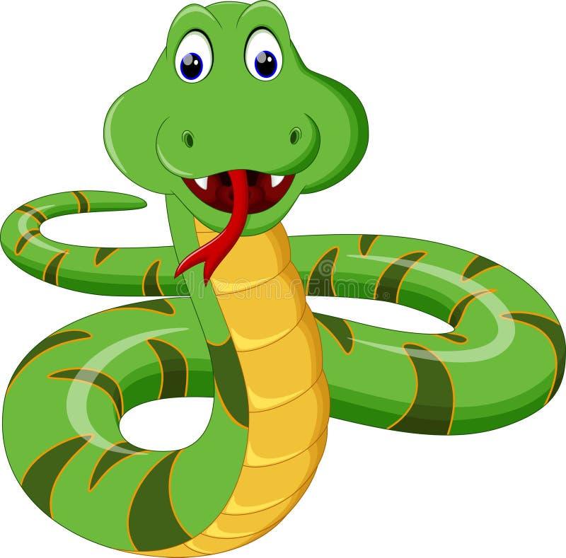 Wąż kreskówka ilustracja wektor
