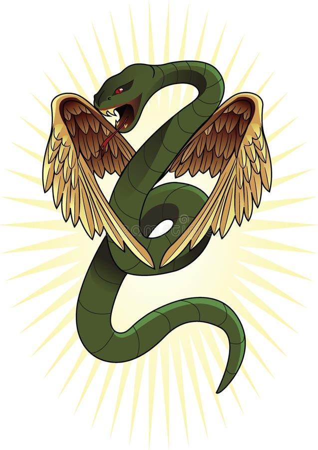 wąż oskrzydlony royalty ilustracja