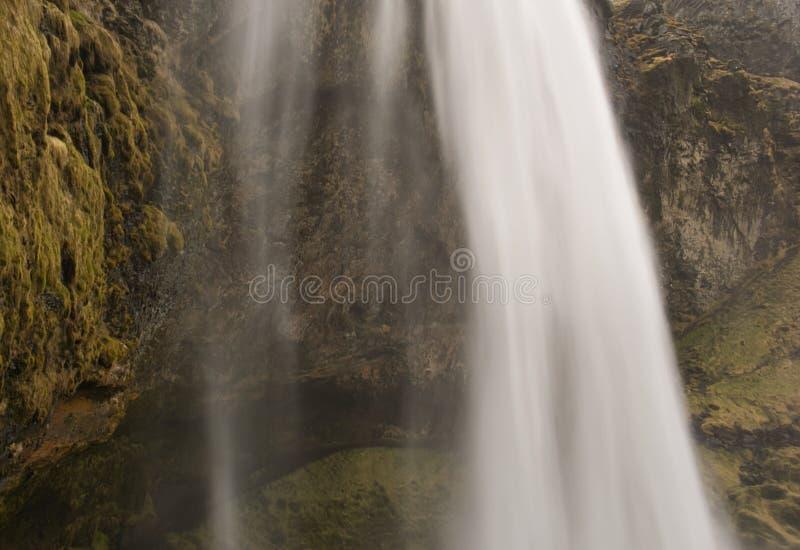 Wąska ścieżka za Seljalandsfoss siklawą zdjęcia stock