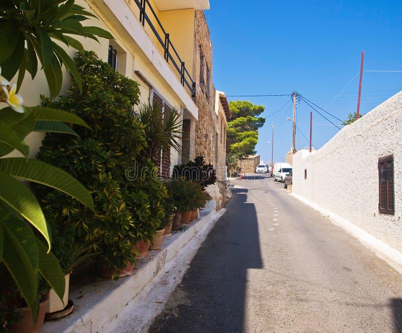 Wąska spokojna ulica zdjęcia stock