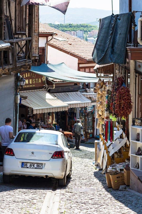 Wąska targowa ulica w Ankara mieście obraz royalty free