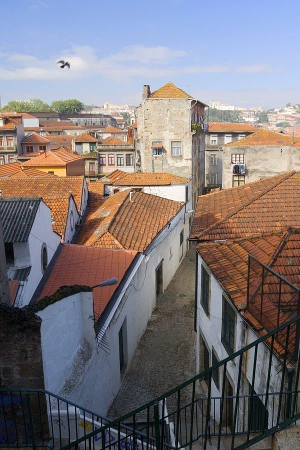 wąska ulica średniowieczna zdjęcia stock