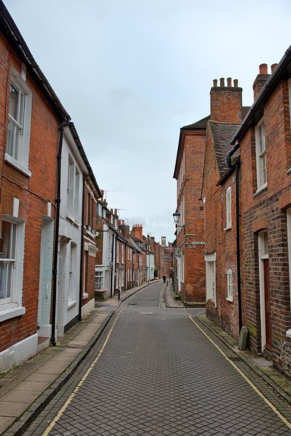 Wąska uliczna architektura w Winchester, Anglia zdjęcia stock