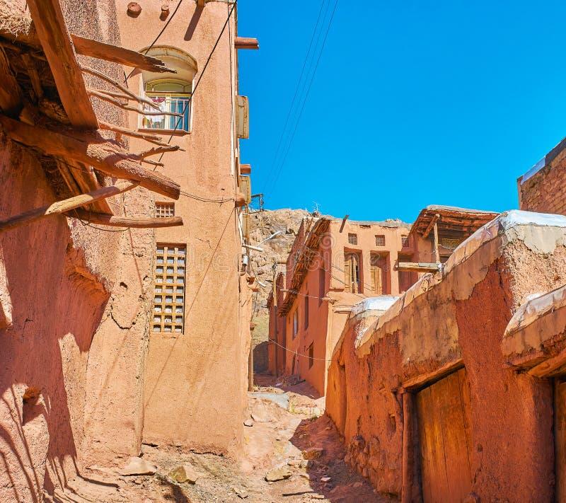 Wąski backstreet, Abyaneh fotografia stock