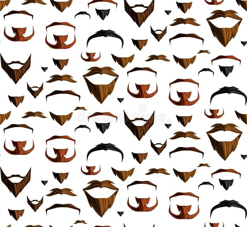 Wąsy bezszwowy royalty ilustracja