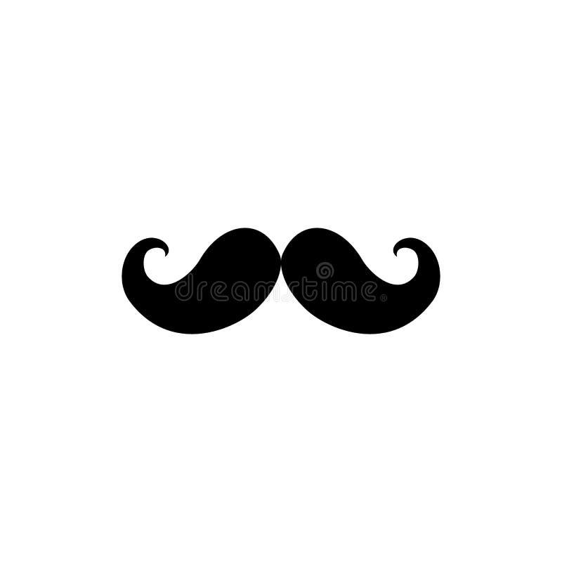 Wąsy ikony czarny wektor royalty ilustracja