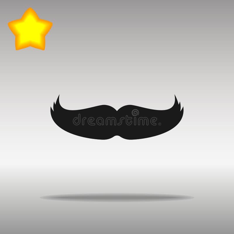 Wąsy ikony guzika loga czarny symbol royalty ilustracja