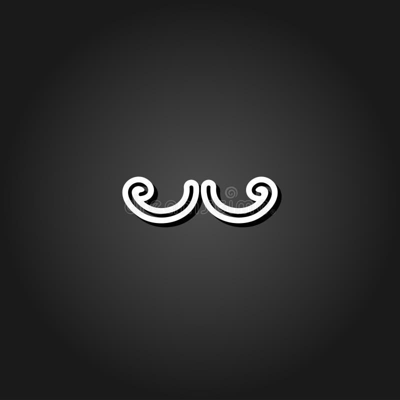 Wąsy ikony mieszkanie royalty ilustracja
