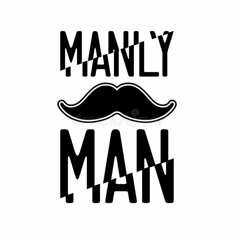 Wąsy ilustracja Waleczny mężczyzna druk royalty ilustracja