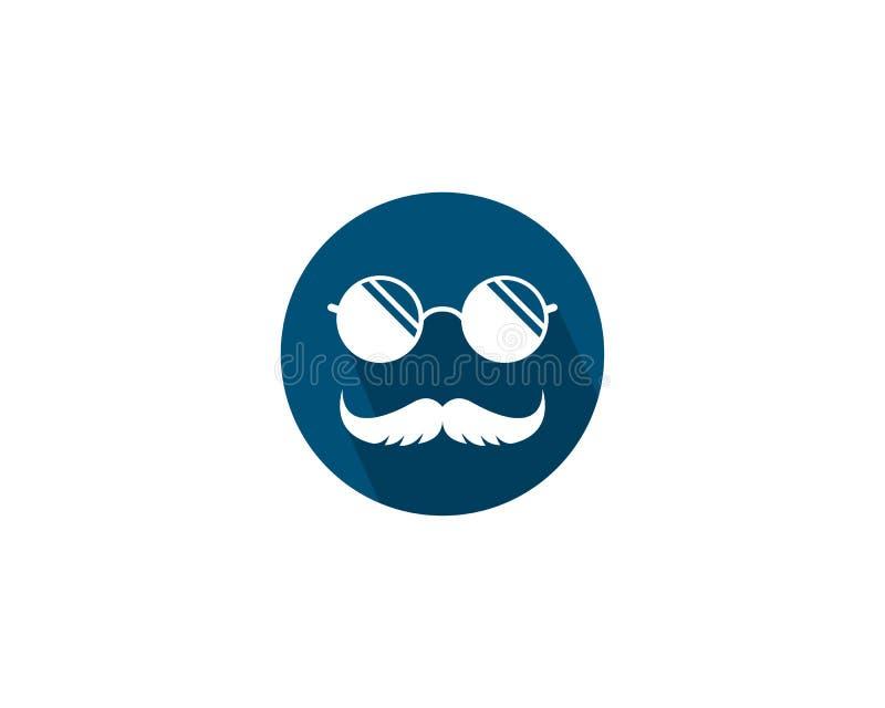 Wąsy logo ikona ilustracji