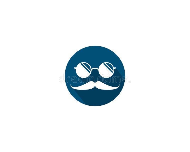 Wąsy logo ikona royalty ilustracja