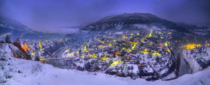 Wąwóz Iskar rzeka, Bułgaria - nocy scena zdjęcia stock