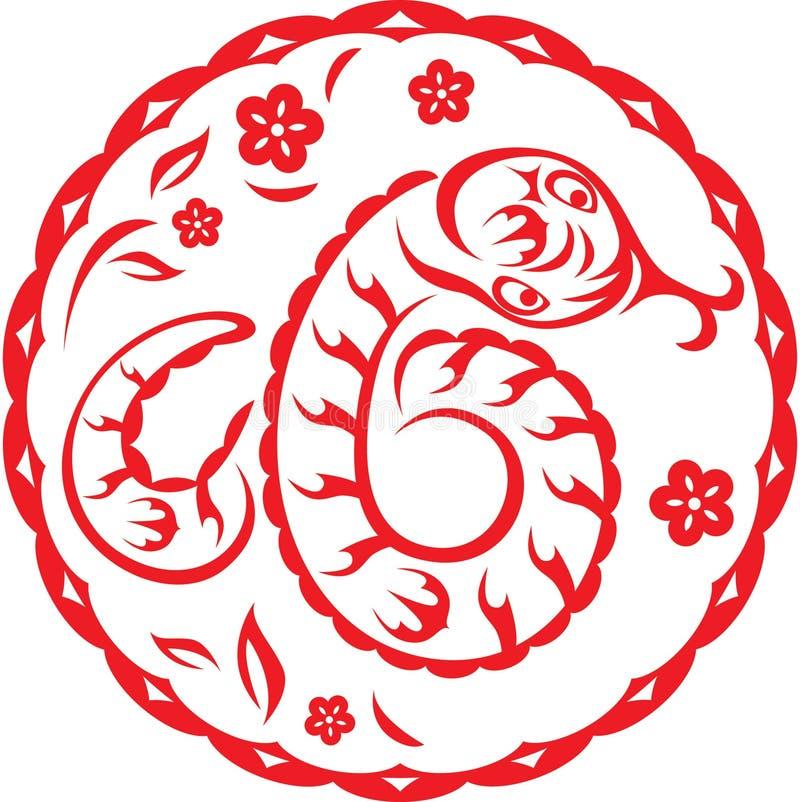 węża chiński rok ilustracji