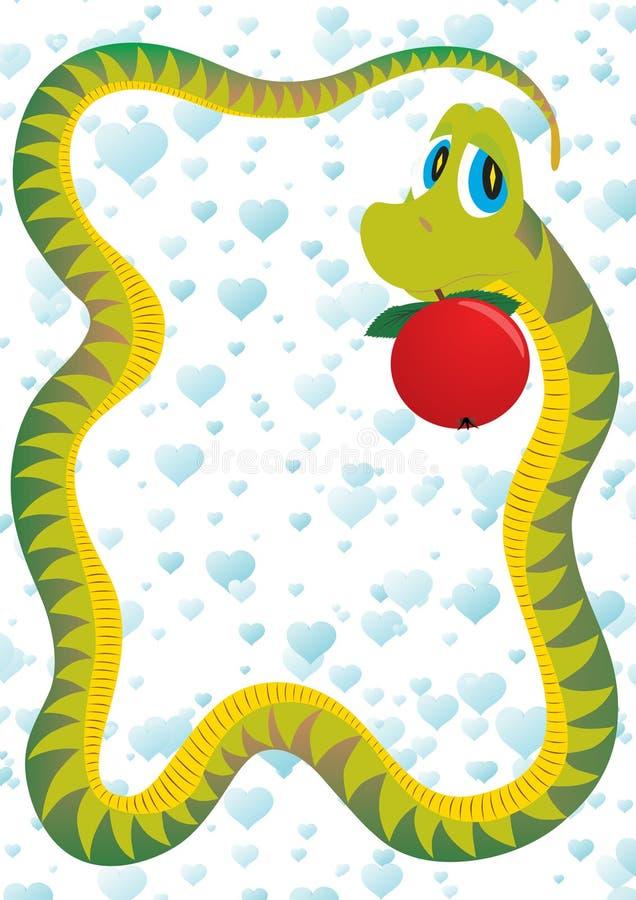 węża kusiciel royalty ilustracja