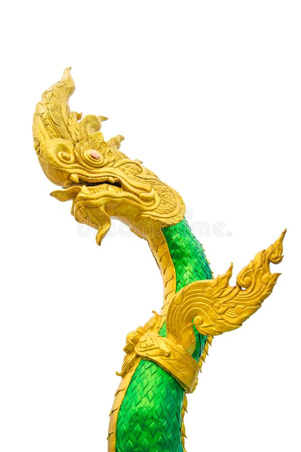 Węża lub Naga statua w Nongkhai Tajlandia fotografia royalty free