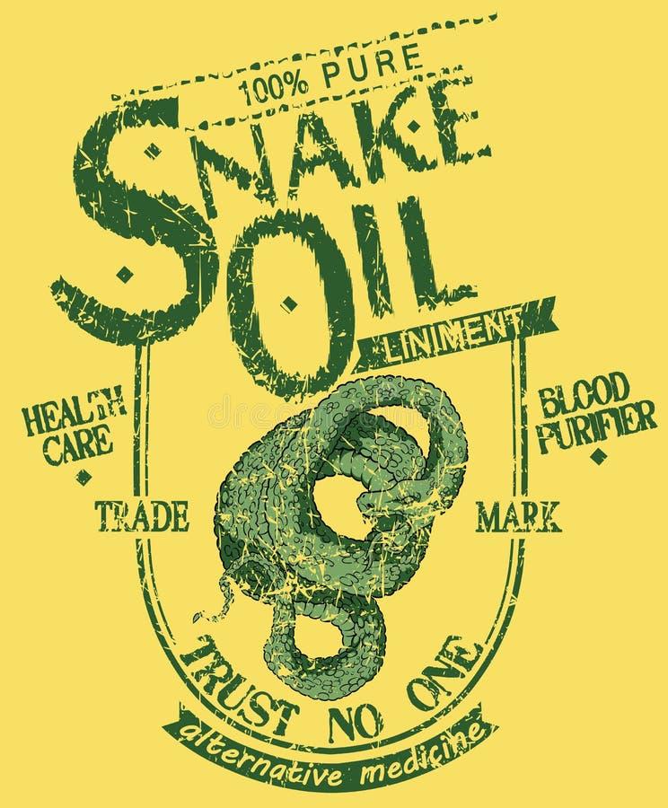 Węża olej ilustracja wektor