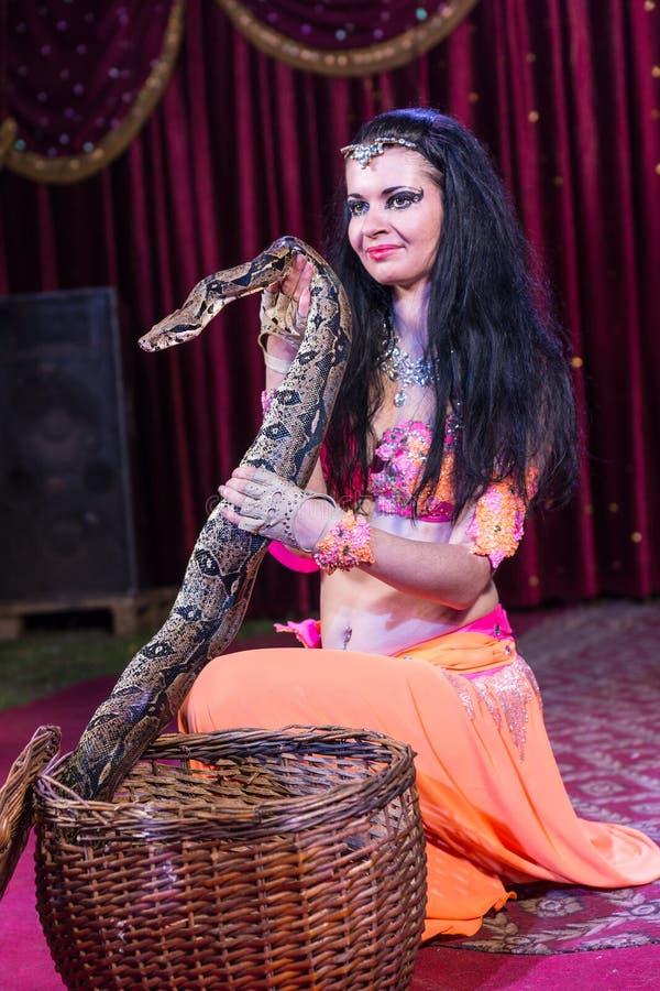 Węża podrywacz Usuwa Wielkiego węża od kosza zdjęcie royalty free