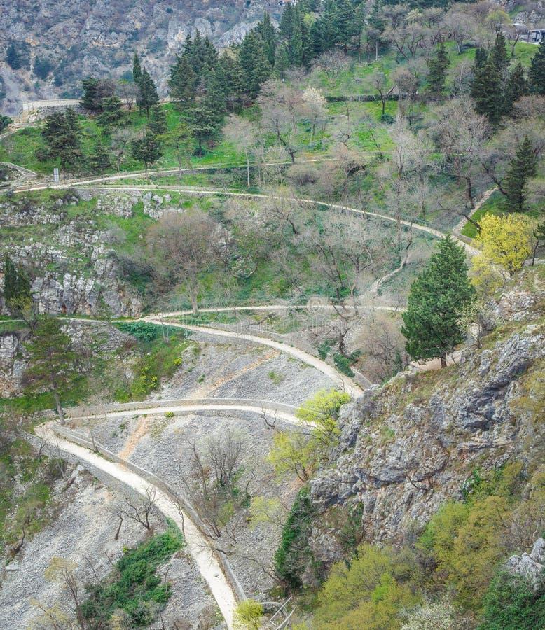 Wężowata chodząca ścieżka, Chorwacja fotografia stock