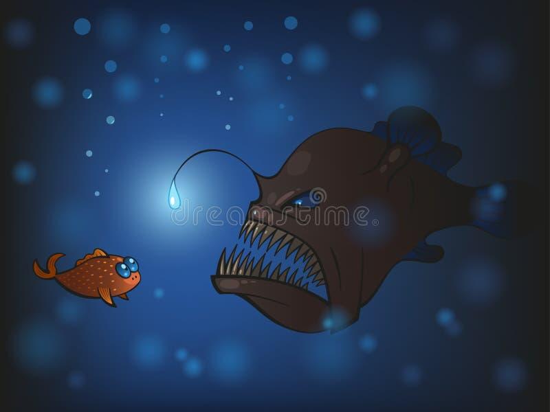 Wędkarz ryba ilustracja wektor