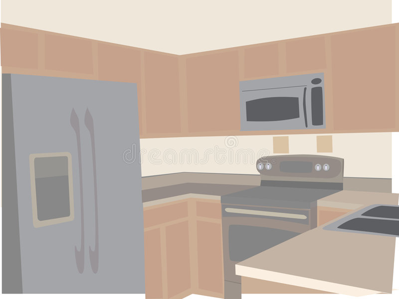 wędkujący kuchennego nowożytnego neutralny stylizowani brzmienia royalty ilustracja