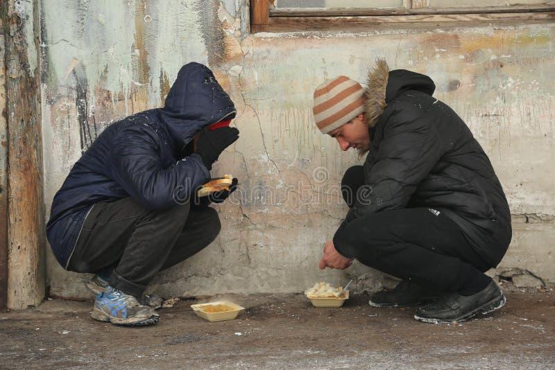 Wędrownicy w Belgrade podczas zimy obrazy stock